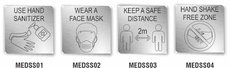 Brushed ACP Safety Signs COVID 19