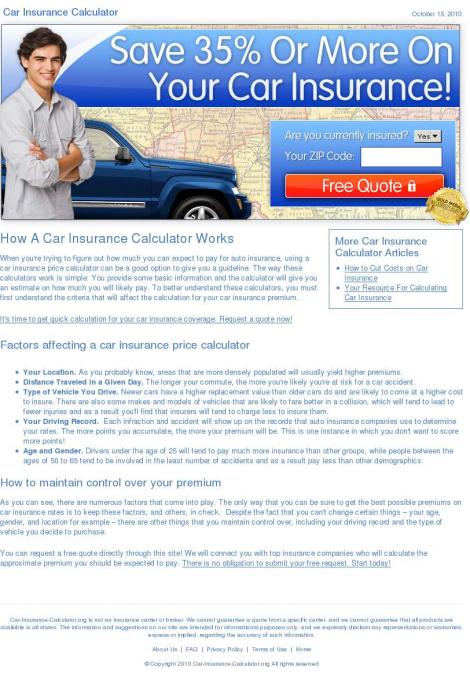 Car Insurance Calculator Gauteng
