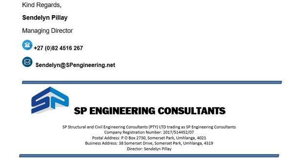 SP Engineering Consultants • Umhlanga • KwaZulu-Natal •