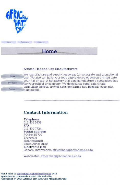 • African Hat And Cap Manufacturers • Johannesburg • Gauteng •  africanhat.co.za 2ed03a566ba