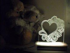 Doodle Heart Night Light