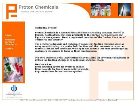 Proton Chemicals • Durban North • KwaZulu-Natal •