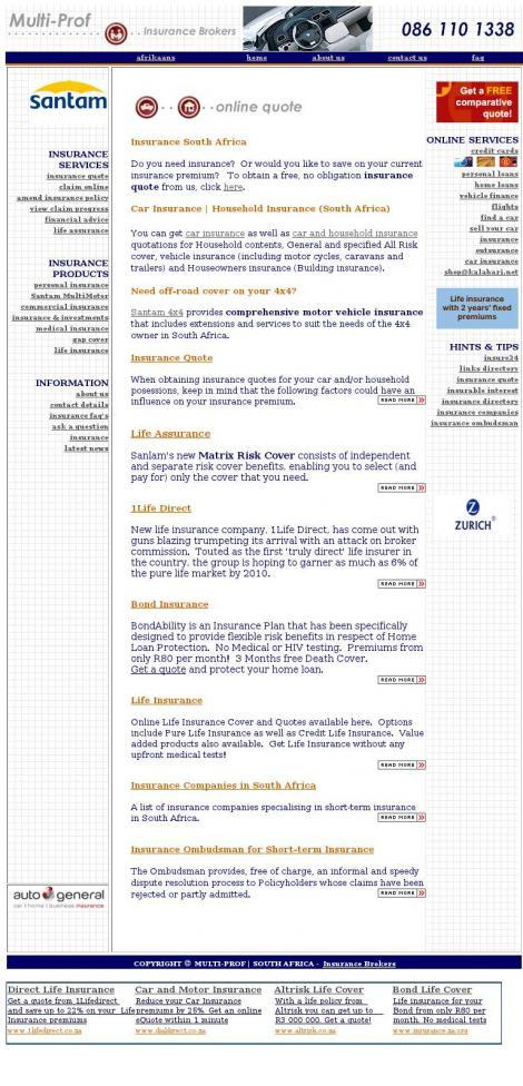 Multi Prof Insurance Brokers Durbanville Wes Kaap