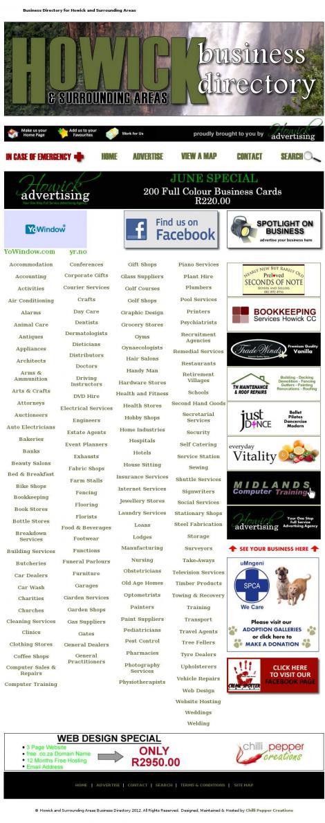 Howick Business Directory • Howick • KwaZulu-Natal •