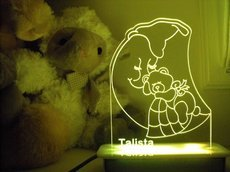 Teddy on the Moon Night Light