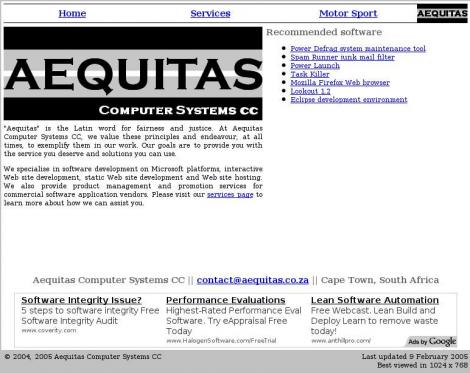 Aequitas Computer Systems • aequitas co za