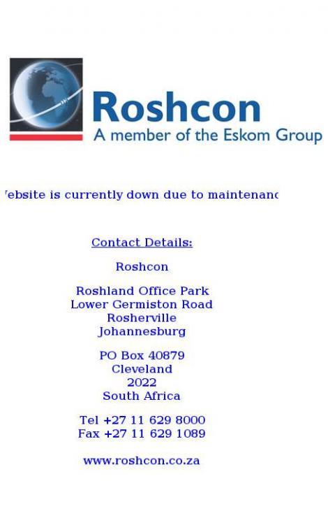 Roshcon • Johannesburg • Gauteng •