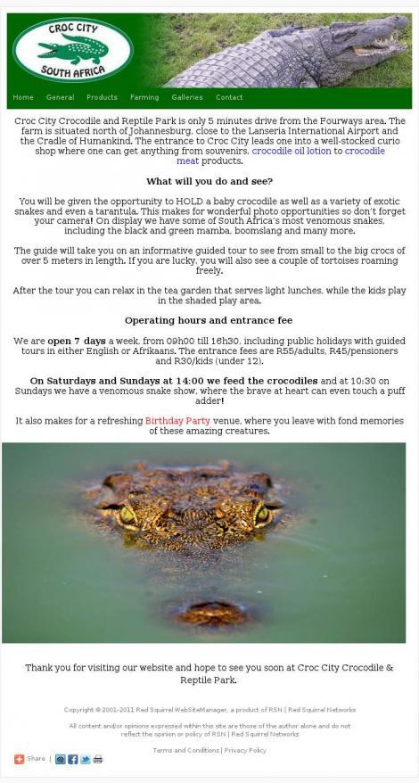9a8b7466b366a3 • Croc City Crocodile   Reptile Park • Fourways • Gauteng • croccity.co.za