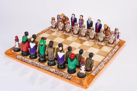 Kumbula Unique Themed Chess Set