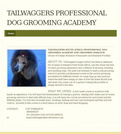 Tailwaggers Professional Dog Grooming Academy Kempton Park Gauteng
