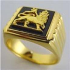 Lion of Judah Gold Ring 22 Carat