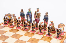 Large African tribal Chess Set